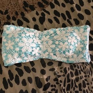 Tarea By Rue21 Green Strapless Bikini Top Size M